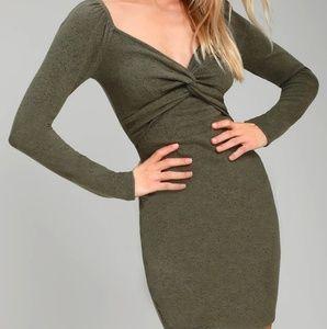 LULUs medium heathered green dress!